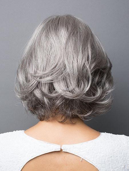 Natural Wavy Bob Style Grey Hair Wig For Women Rewigs Com
