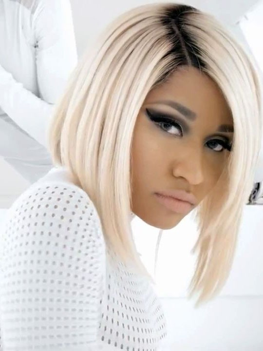 Nicki Minaj Blonde Bob Hair Wig With Black Roots Rewigscom