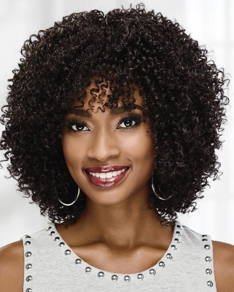 On-Trend Curly Wigs With Voluminous Layers Of Tight Bouncy