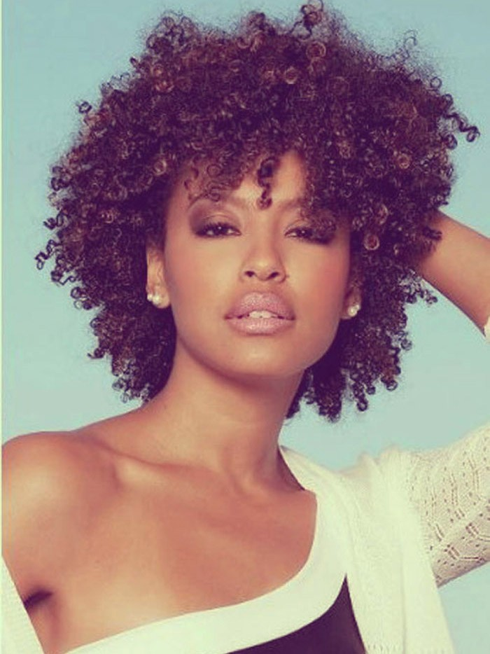 Short Curly Weave Afro Hairstyles For