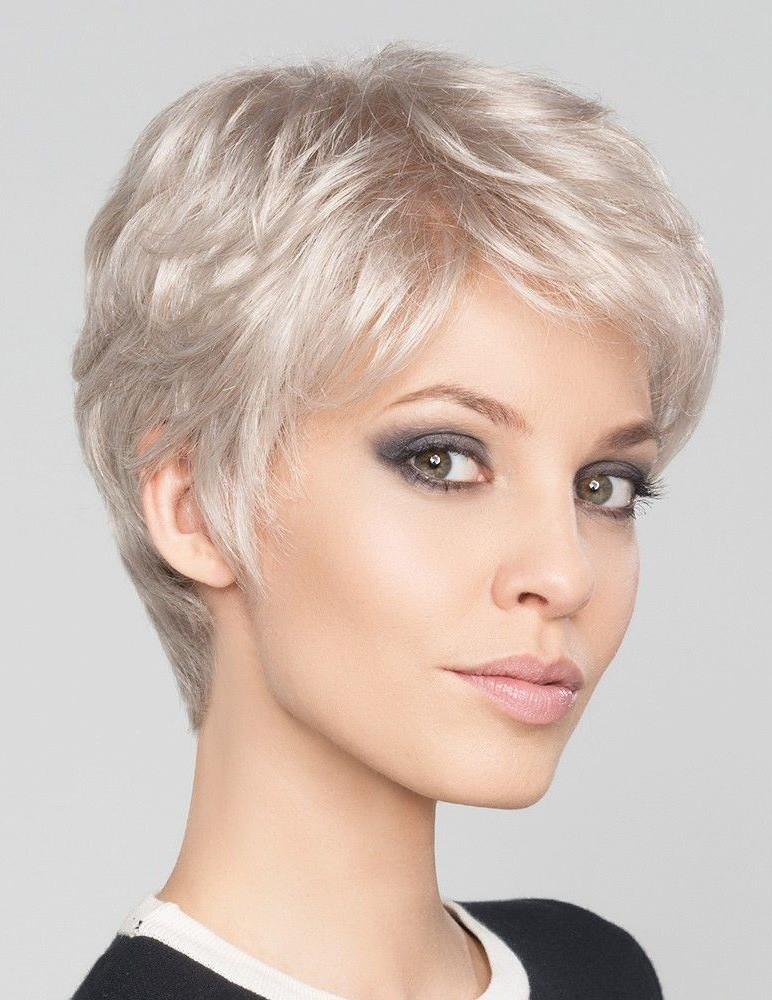 Short Pixie Cut Silver Grey Hair Wig - Rewigs.com