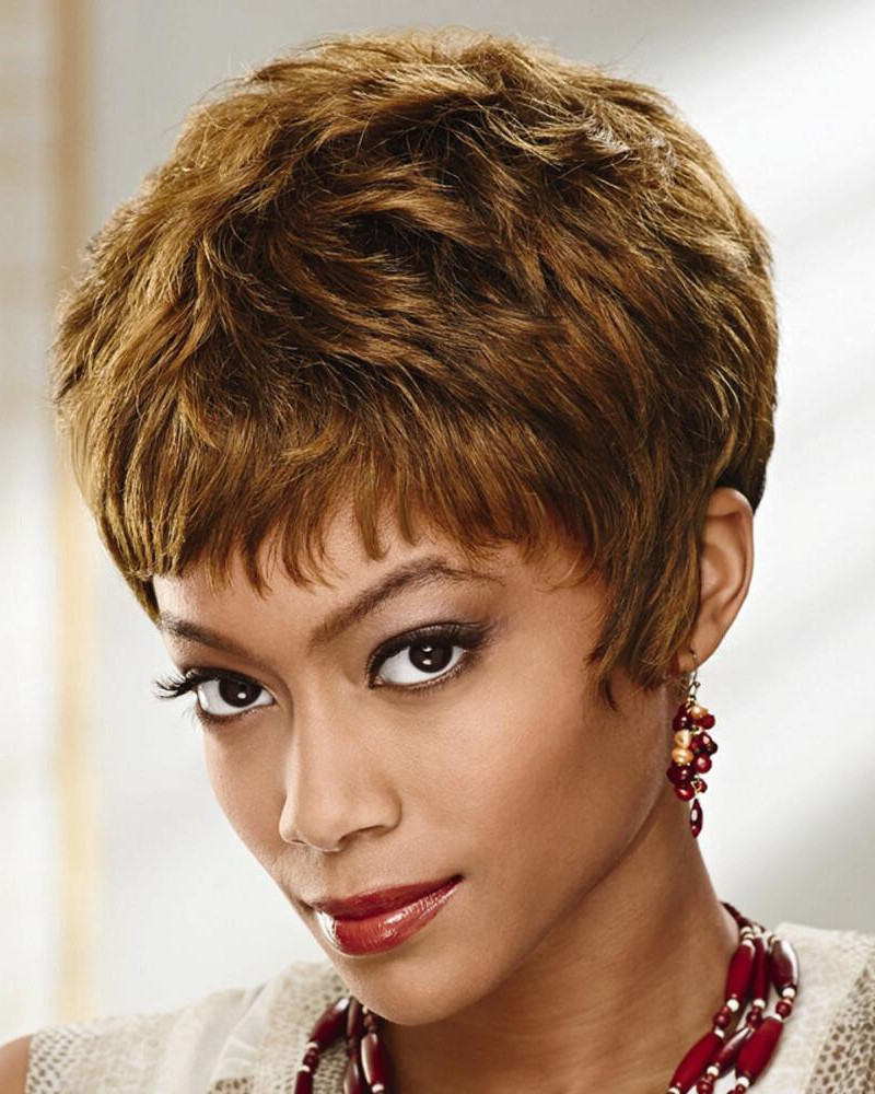 Short Wavy Layered Pixie Wigs In 100% Human Hair, Best