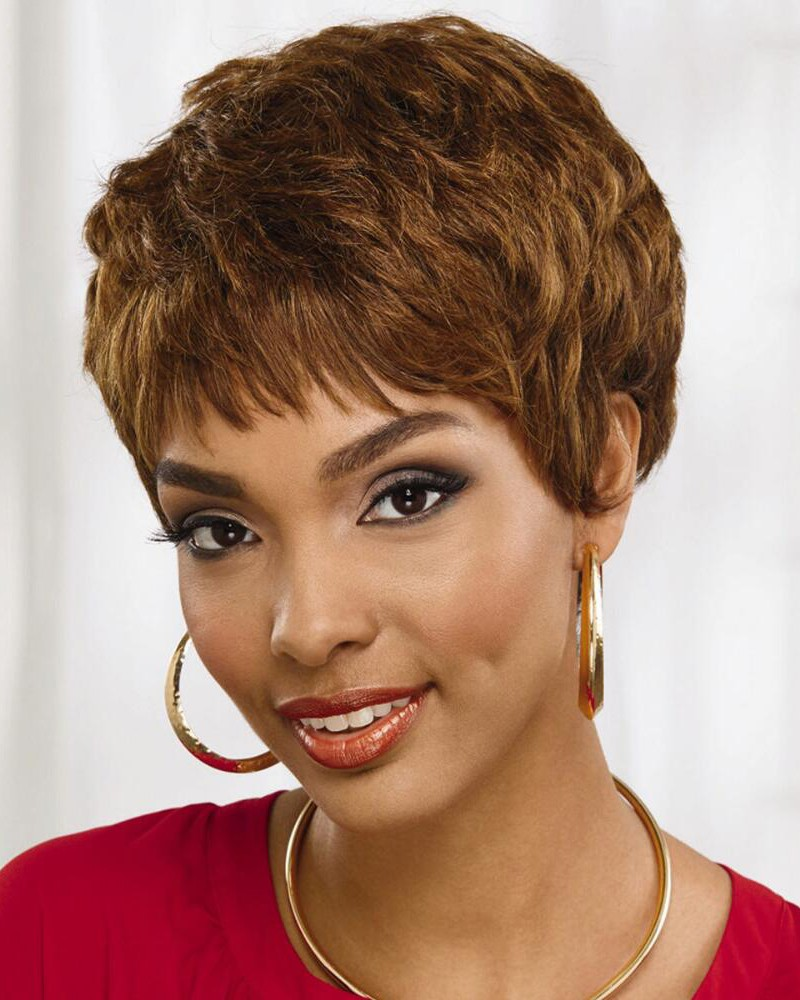 Short Wavy Layered Pixie Wigs In 100% Human Hair, Best Wigs Online Sale - Rewigs.com