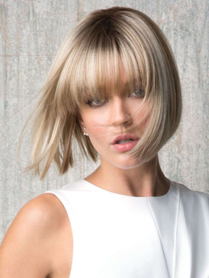 Straight Bob Short Synthetic Wigs with Bangs,