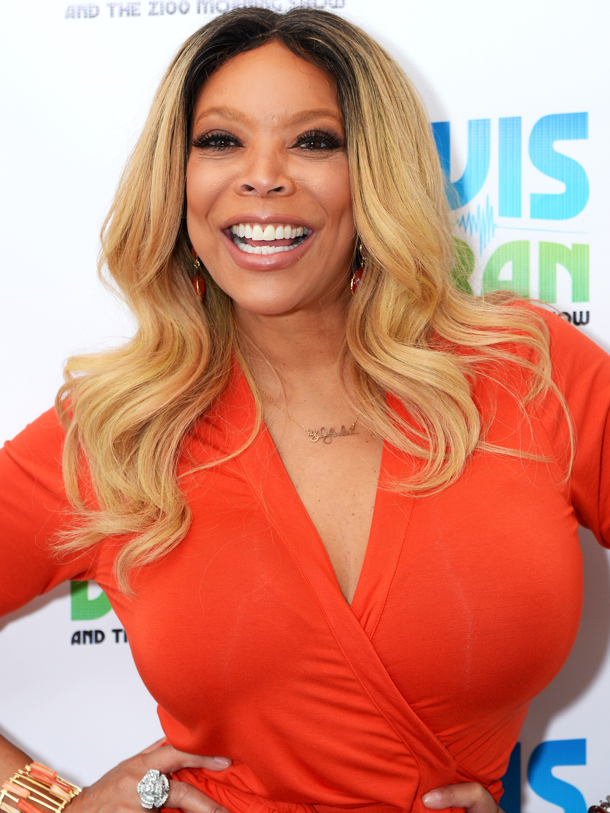 Wendy Williams Long Blonde Wavy Synthetic Lace Front Hair