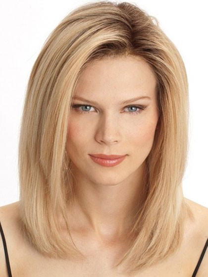 Human Hair Shoulder Length Straight Lace Front Wigs Best