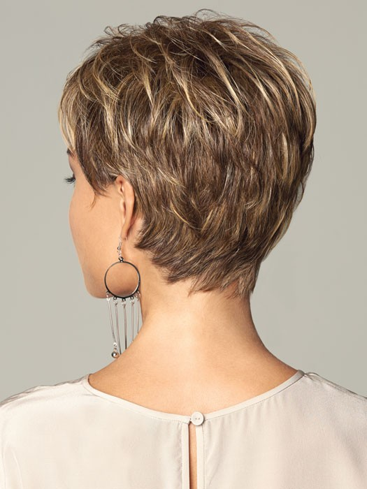 short wispy neckline haircuts synthetic cropped straight pixie cut women capless hair