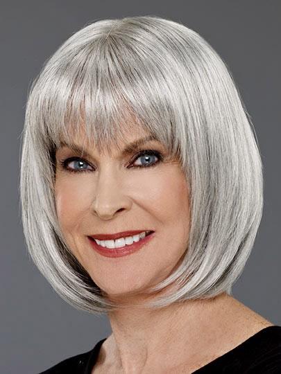 Grey Bob Straight Hair Wigs For Women, Best Wigs Online