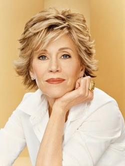 Jane Fonda Short Layered Cut Blonde Hair Wig Rewigs Com